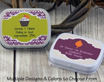 Autumn Wedding Favors - Fall Party Favors - Mint Tins - Favor Tins - Rustic Bridal Shower Favors - Fall Wedding Favors - Set of 10