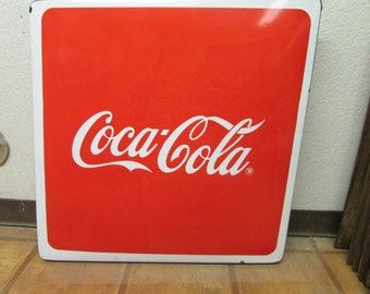 Lot of 10 Vintage Old Coca Cola Table Top-Metal Porcelain-29x29 in-Mexican-Coke-Like New-Restaurant-Cafe-FREE SHIPPING