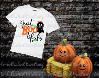 Halloween Decor/'Just BOOtiful' with Girl Ghost/Dots and Hearts/Tumbler/Vinyl Decal/Mantle Decor/Halloween DIY/HTV/Halloween Shirt