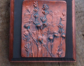 Copper-Finish Herbs Tile
