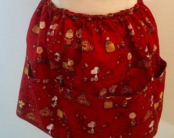 Peanuts themed apron