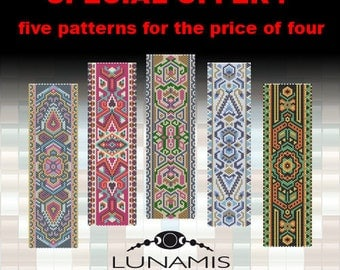 bracelet peyote pattern,  bracelet design, odd count peyote, stitch pattern, pdf file, pdf pattern, pack, FPP04