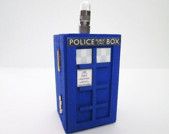 Doctor Who inspired light up Tardis Police trinket / jewelry Box