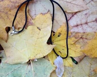 Raw Quartz Point Necklace | Raw Quartz | Crystal Pendant | Raw Quartz Jewelry | Raw Crystal