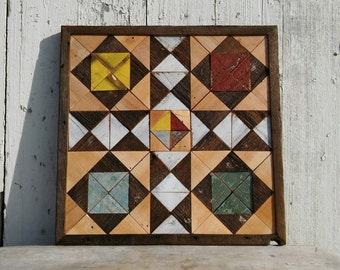 patchwork quilt block, salvaged barnboards quilt, colorful quilt