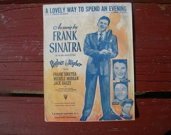 Music : A lovely way to spend an evening- as sung by Frank Sinatra song pamphlet- Antique