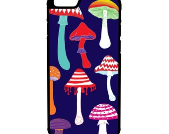 Psychedelic Mushrooms iPhone Galaxy Note LG HTC Hybrid Rubber Protective Case