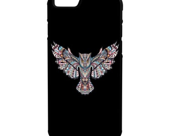 Colorful Owl iPhone, Galaxy, Note, LG G4 Hybrid Rubber Protective Case