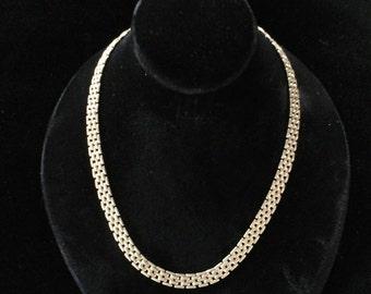 Delicate gold metal multi link chain choker
