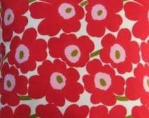 Marimekko Cherry Pink Mini Unikko cotton fabric, fat quarter, 70cm x 46cm, Finland