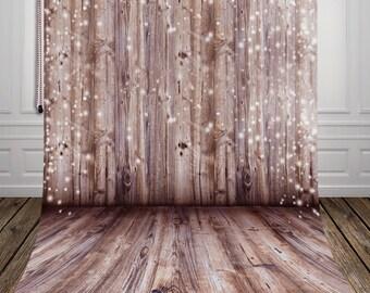 Chic wooden plank photography backdrop ,newborn photo vinyl photography background D-9928