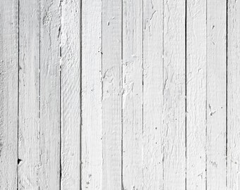 White Wood Planks Photo Background, Weathered Painted Old Wood Floordrop, Newborns Food Product Photography Backdrops XT-3922