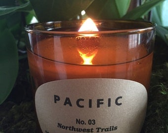 Handmade Soy Candle with Essential Oils-Northwest Trails