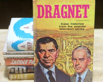 Classic  Vintage Children's Book Dragnet / Case histories from the popiar Televison series