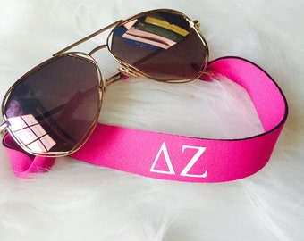 Delta Zeta Croakies - sunglasses holder - nylon - sorority sister gift - DZ