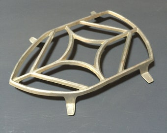 French Vintage Iron Stand, Aluminium Trivet, Clothes Iron Stand