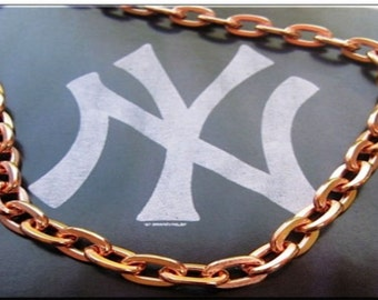 Solid Copper Chain CN719G - 3/16 of an inch wide. Available in 18 to 30 inches.
