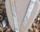 Geography Teacher Social Studies Teacher ID Holder Badge holder Map Lanyard