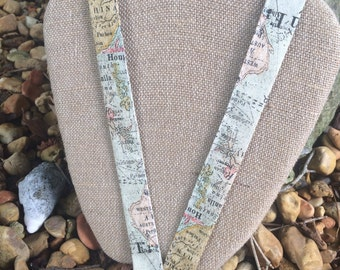 Geography Teacher Social Studies Teacher ID Holder Badge holder Map Lanyard