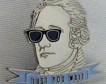 Hipster Alexander Hamilton Pin