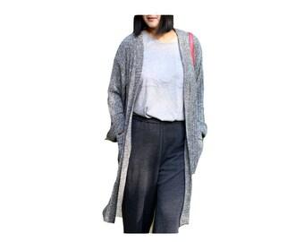 Gray stylish sweater cardigan