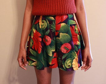 Floral Shorts, 90s Shorts, High Waist Shorts, High Waist Floral