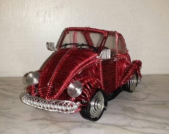 Volkswagen Beetle wire sculpture