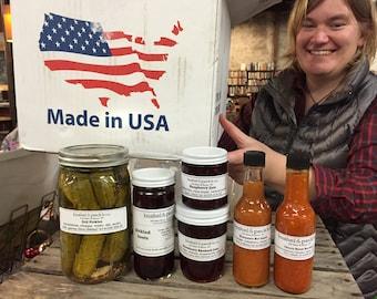 B&P Big Box Of Best Sellers - Pickles, Jam and Hot Sauce - Handmade Gift Box