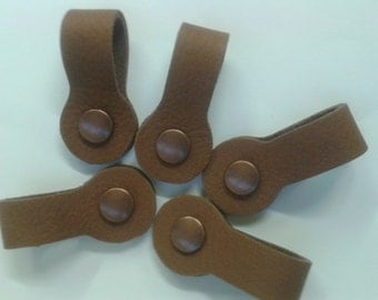 Set of 5 Leather Cable Tie/Organizer