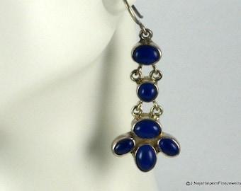 Lapis Earrings, Lapis Lazuli, Sterling Silver, Blue Lapis Earrings, Native American, Gemstone Earrings, Blue Earrings, Lapis Jewelry