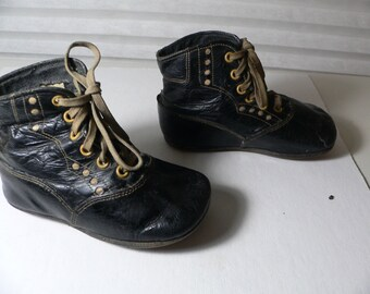 Antique Victorian  Baby Shoes Boots