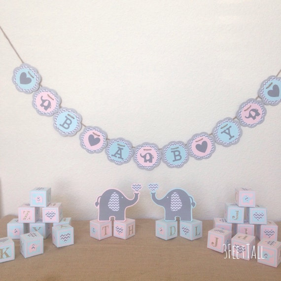 Baby Shower Decoration Packages : Elephant baby shower decoration package gender neutral
