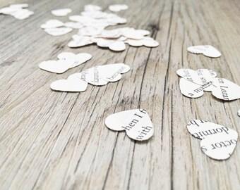 Book Page Heart Confetti