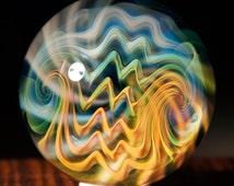 "FREE SHIPPING 1.53"" Handmade Marble by ~Ethan Lesch~  Borosilicate, Boro, Art glass, MIB"