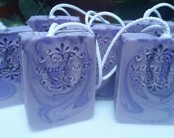 Lavender Soap on the Rope
