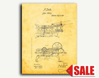 Patent Print - Rivet Machine Patent Wall Art Poster