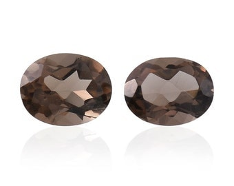 Brazilian Smoky Quartz Loose Gemstone Set of 2 Oval Cut 1A Quality 5x4mm TGW 0.55 cts.
