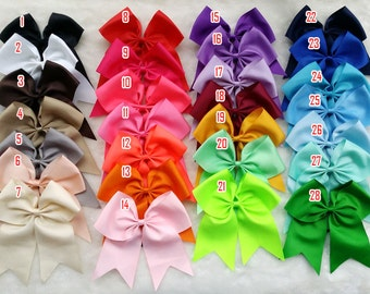"Pick 1 pcs Baby girl Cheer Bow,Huge cheer bow, Back to School Bows,Big Cheer Bow,cheer bow,Large Cheer Bow,School Hairbows,7"" X 7.5"""