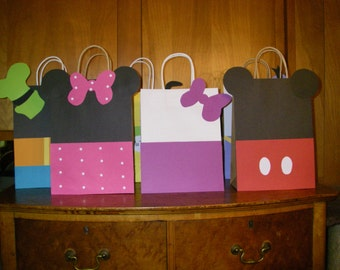 20 PC  Minnie Mouse & Mickey Mouse Clubhouse Goody Gift Bags Party Favors Candy Treat Birthday Bags