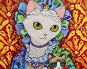 Rococo Cat Portrait ACEO ...