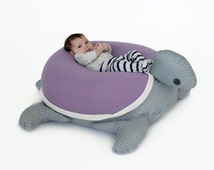 Baby gift, baby pillow, Nursery pillow, animal pillow, Bean Bag, Turtle, Without filling, children's bean bag, floor cushion