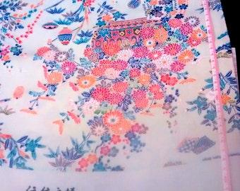 Silk full bolt KAGA Japanese kimono fabric peppermint green color