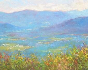 The Blue Ridge mountains in September