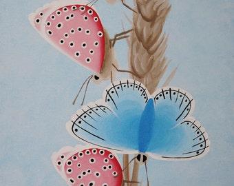 Butterflies Original Acrylic Painting