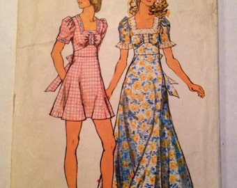 1973 Simplicity Pattern # 5616 Dress, Misses Size 14, Uncut