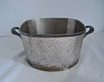 Homan Silver Ice Bucket Silverplate on Nickel Silver 0946 W M Mounts 03173