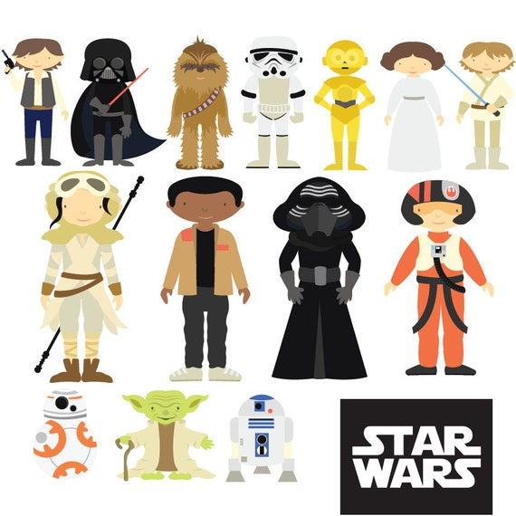 Star Wars Clipart & Vector Set Instant Download Personal