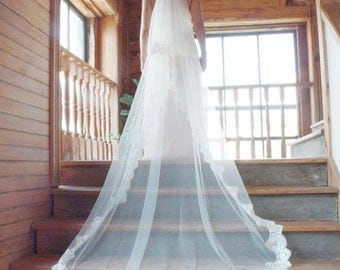 Cathedral Length Wedding Veils, Two Tiers Cathedral Veils, Wedding Veil, Veils, Wedding Accessories, Custom Bridal Veils, READY TO SHIP