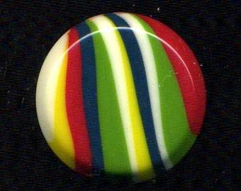 Buttons Vintage Multi-Color Stripes Plastic