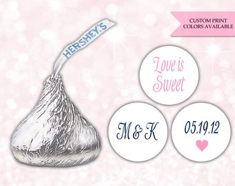 Hershey kiss stickers (108) - Hershey kiss stickers wedding - Hershey kiss labels - Hershey kisses personalized labels (HK002)
